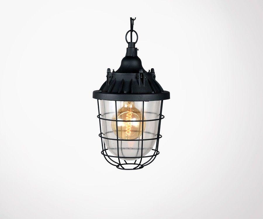 Lampe suspendue acier et verre OFF - Label 51
