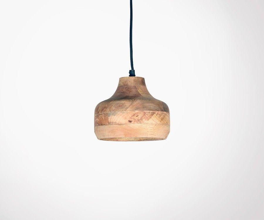 Lampe suspendue en bois de mangier MANGO - Label 51