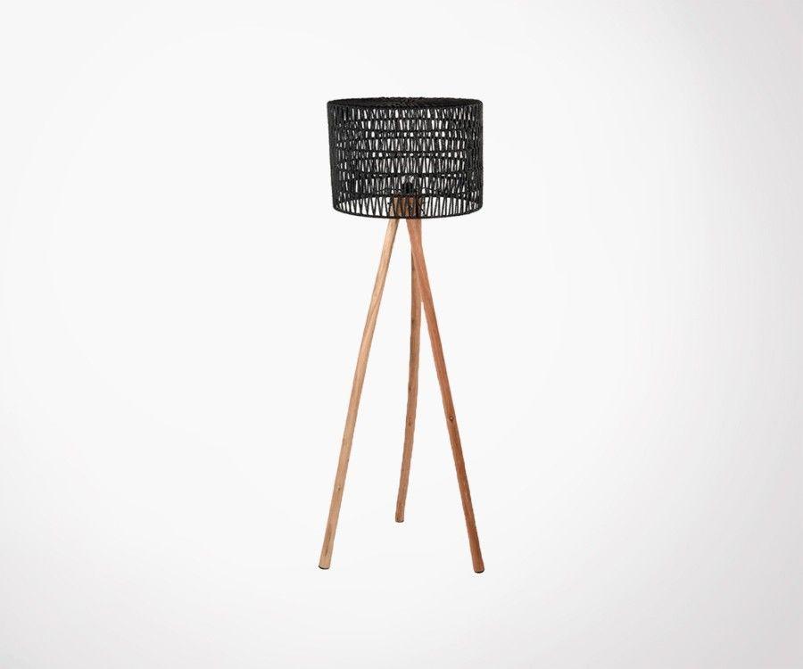 Lampadaire en bois et coton KARL - Label 51