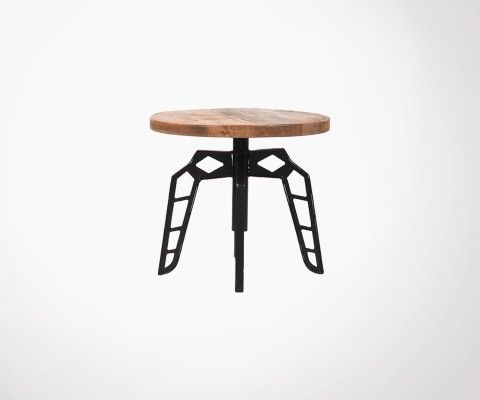 Table d'appoint industrielle métal bois FLINTSTONE