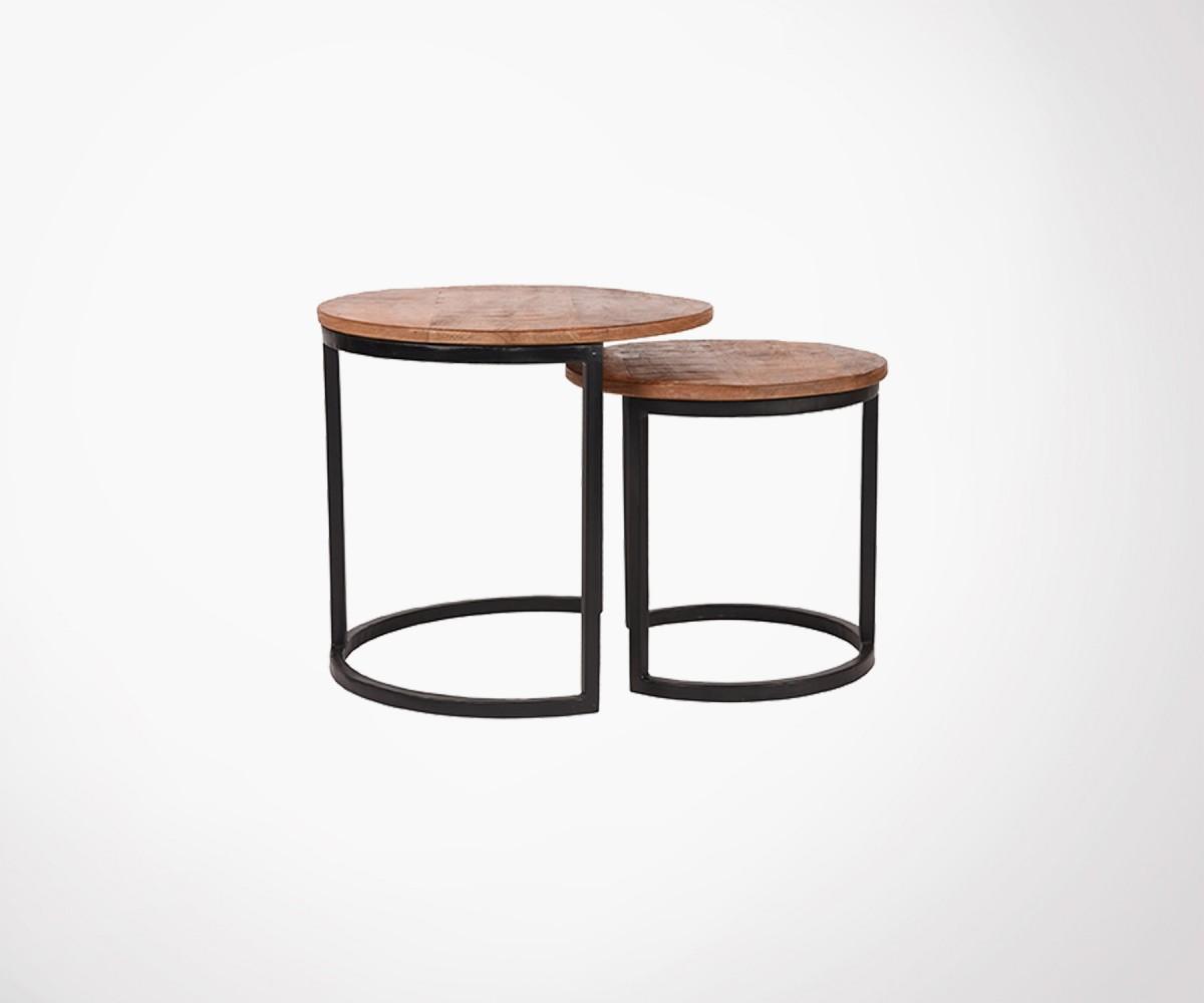 Tables Gigognes Design Label 51 Bois Massif Et Metal Noir A Voir