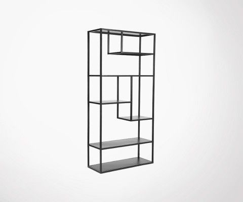 Etagere style industriel en metal noir BLACK - Label 51