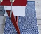 Tapis plat coton DOTS - 140x200 cm