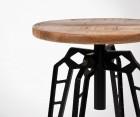 Table d'appoint industrielle métal bois FLINTSTONE