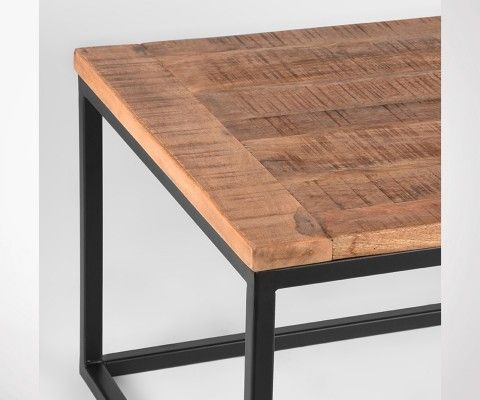 Grande table basse style industriel bois et metal BOX - Label 51