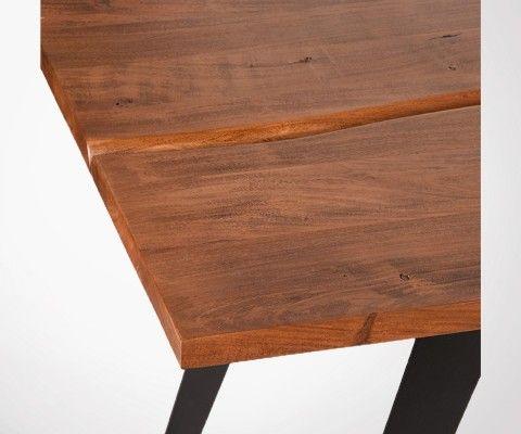 Table a manger bois et metal style industriel PONG - Lable 51