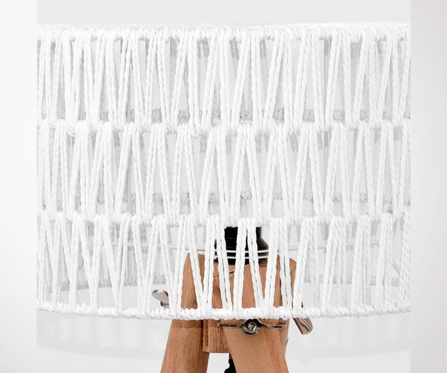 Lampe a poser en bois et coton KARL- Label 51