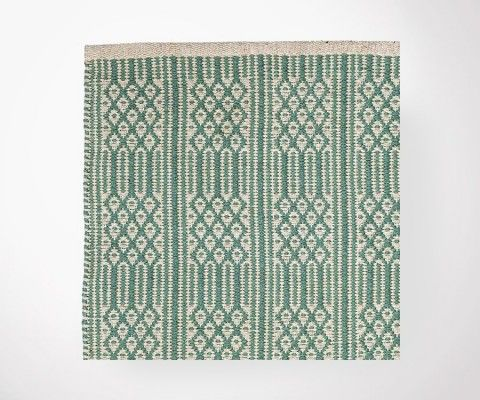 BASEL rug green/cream - 200x300 cm