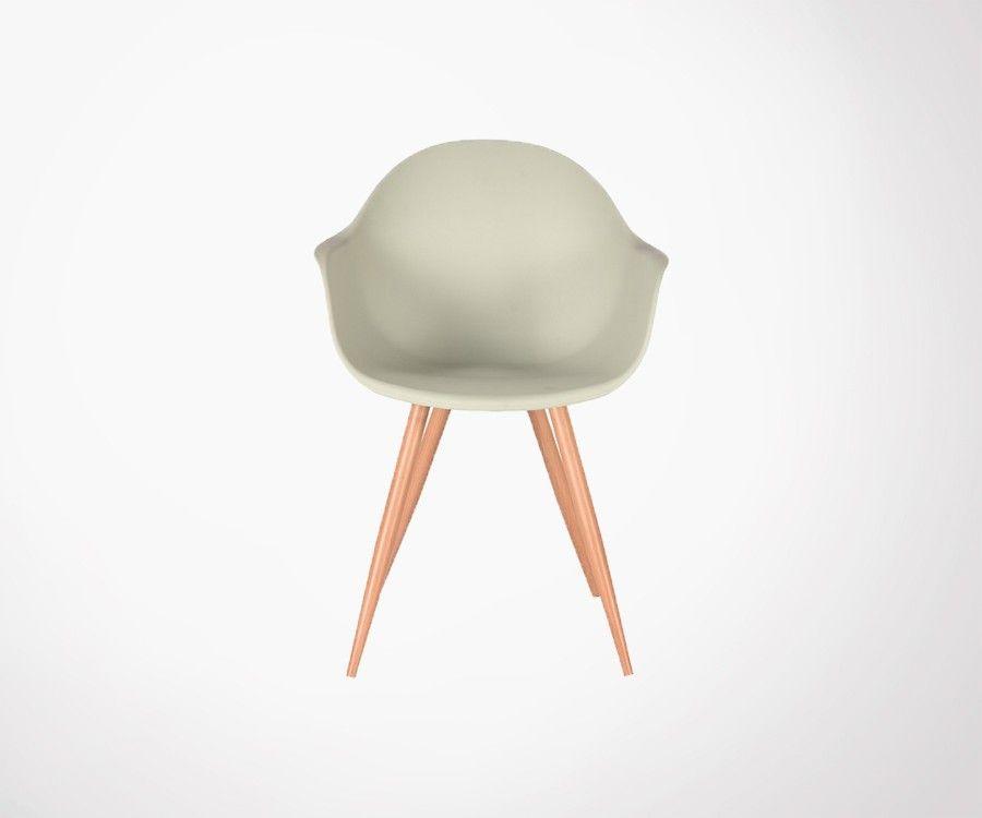 Chaise de salle a manger scandinave pieds bois SIX - Label 51