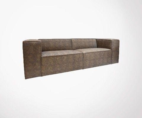Canapé cuir 3,5pl style rétro ROTTERDAM - Label 51