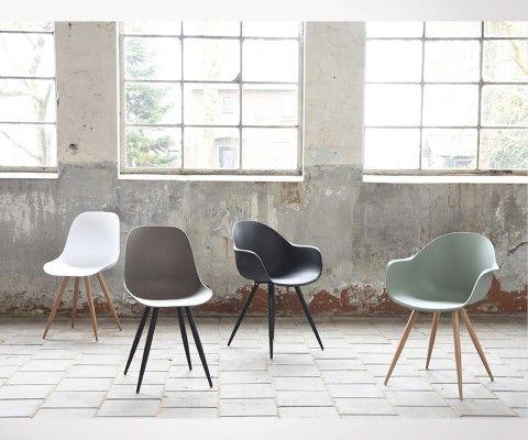 Chaise de salle a manger design pieds metal POZETTE - Label 51