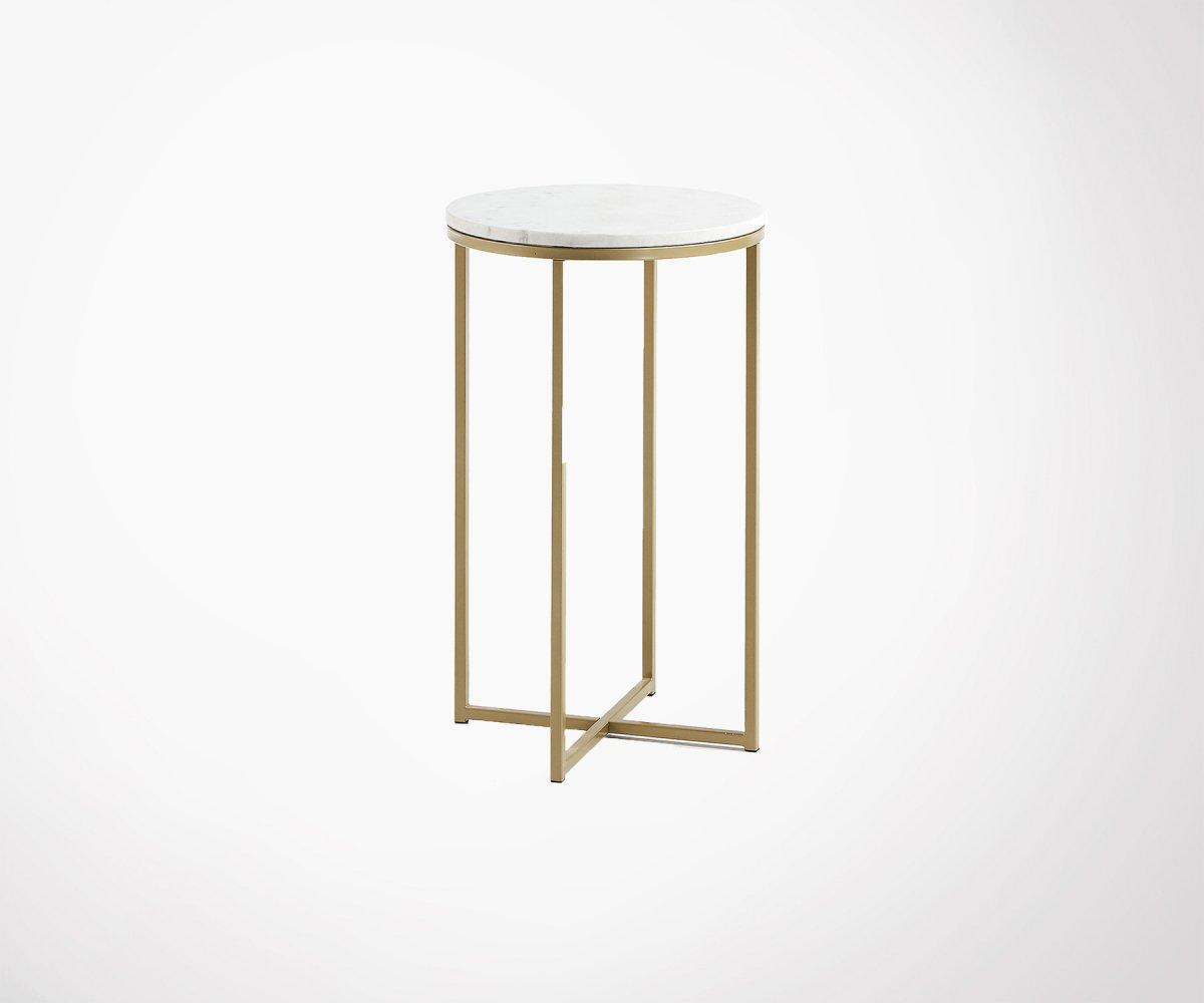 Table D Appoint Bout De Canape Marbre Et Laiton Style Art Deco