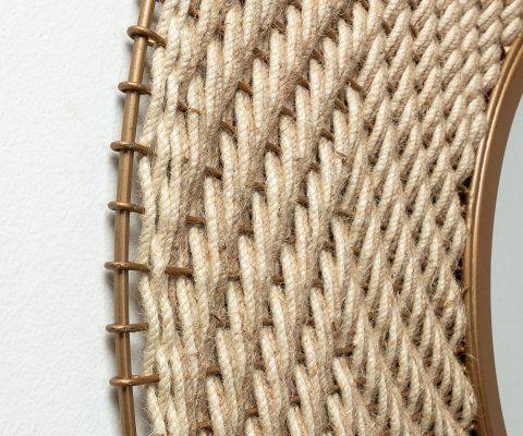 Chaise design pieds bois métal HALEY - rembourrée tissu beige