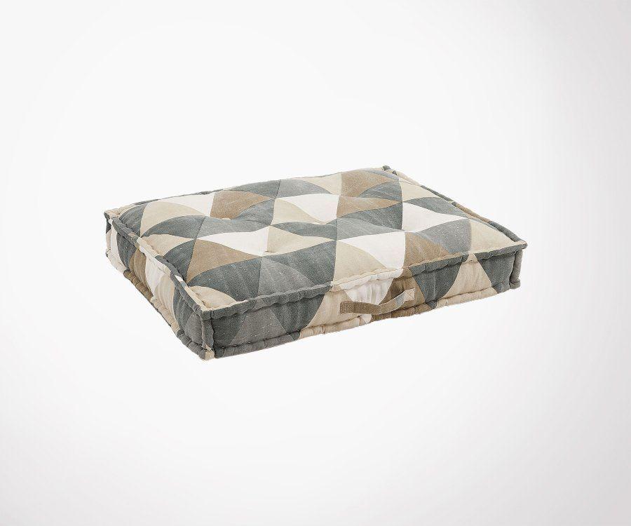 Chaise design industrielle FEL - rembourrée tissu beige