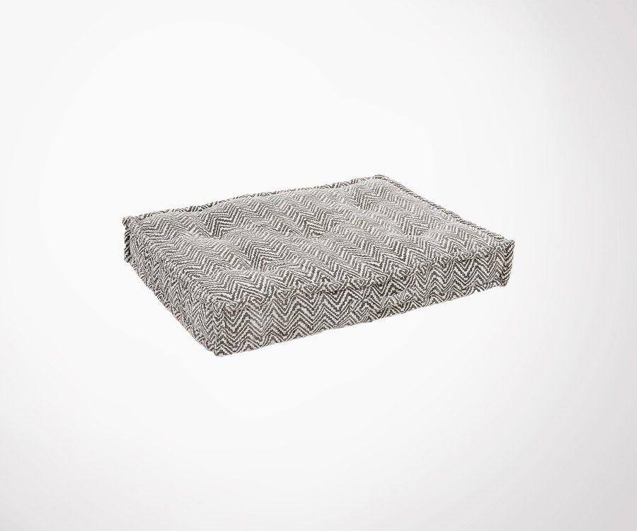 Chaise design style années 50 LOUISA - rembourrée tissu beige