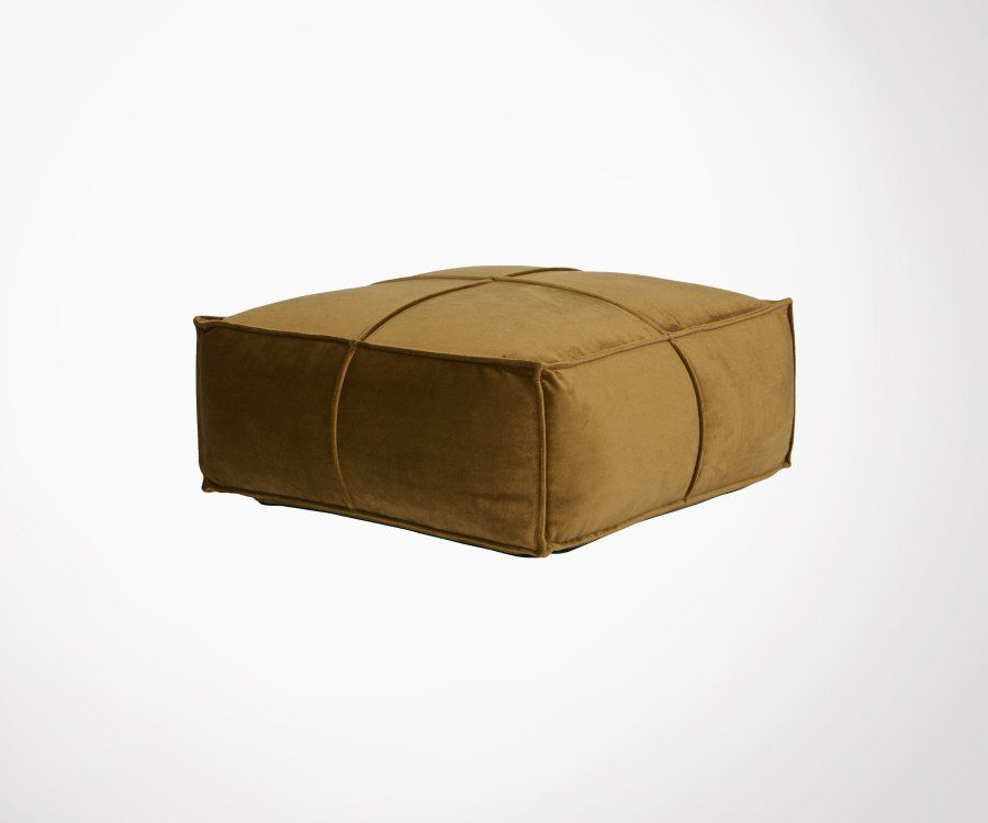 Pouf velours 60x60cm style rétro HONEY - BePureHome