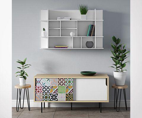 Étagère horizontale design PANORAMA - Temahome