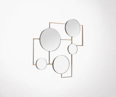 Composition de miroirs laiton vieilli BONIFACIO
