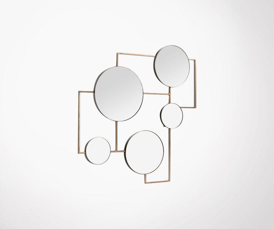 Table basse design bois et pieds métal CASTINE