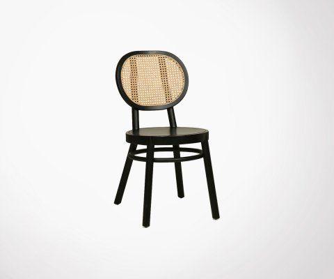 Chaise rétro bois et cannage PAYA - HK Living