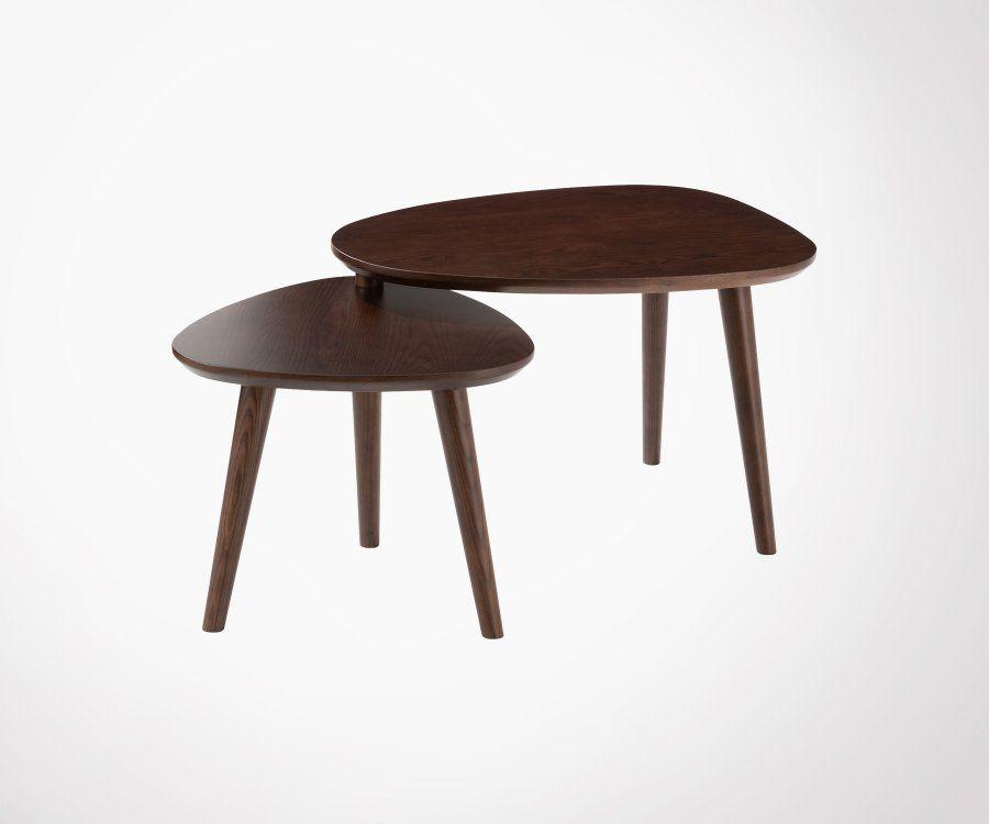 Petites tables gigognes en bois DORCE