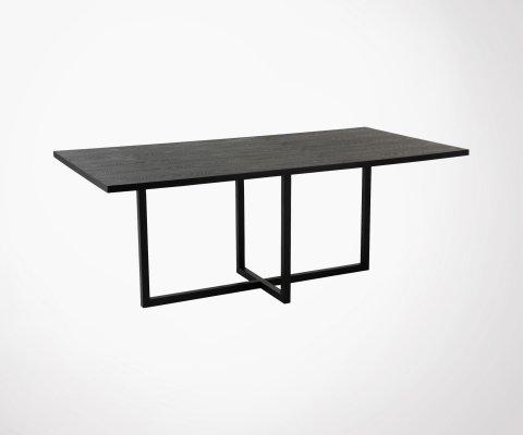 Grand table rectangulaire 200cm en bois cendré FISSO