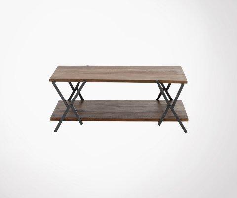 Table basse 125x71cm bois et métal TEMERIS
