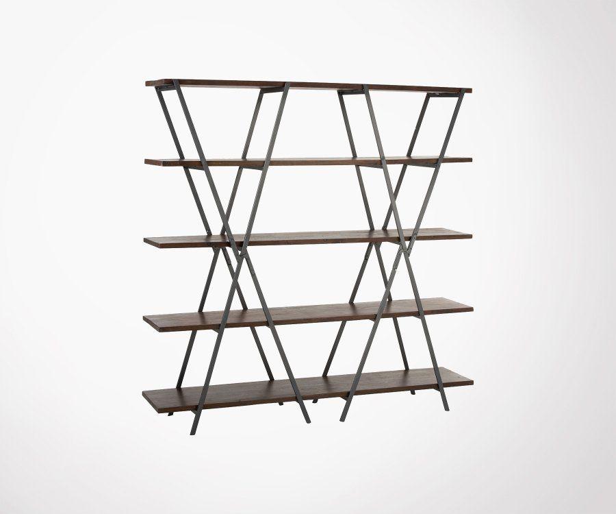 Étagère 5 étages moderne en bois et métal TEMERIS