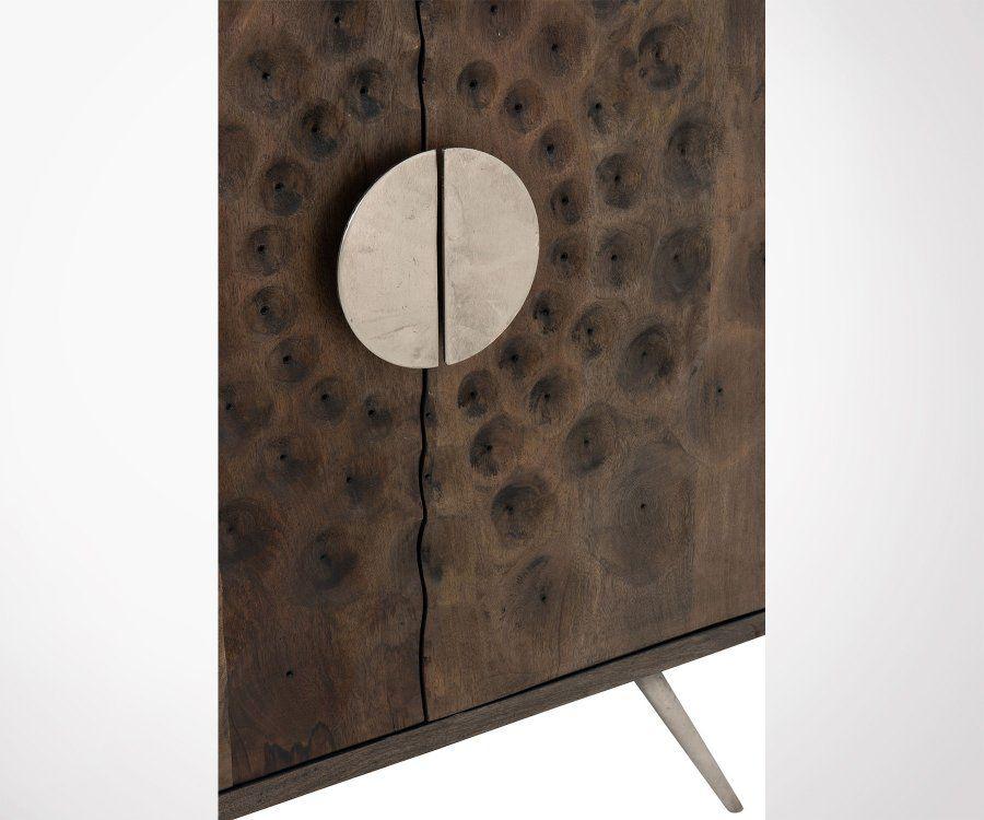 Armoire 2 portes style ethnique en bois WEST