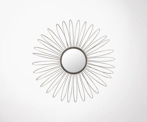 Miroir rond 52cm fleurs avec led FLORES