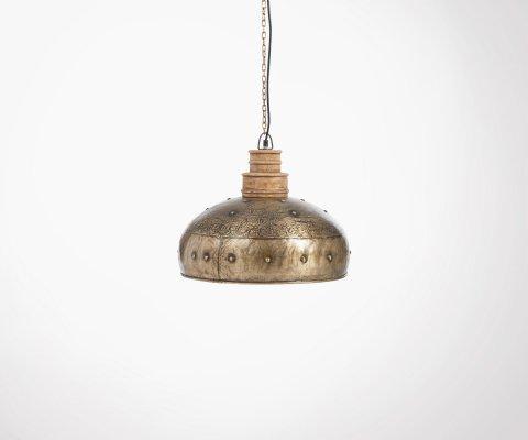 Lampe suspendue style antique métal RIBELLI