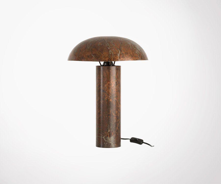Lampe champignon style antique effet marbre vieilli ROMODA