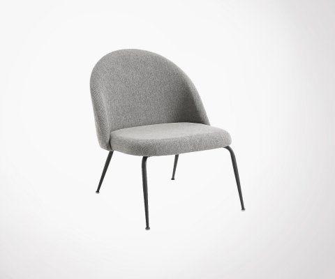 Chaise lounge tapissée pieds métal NYAK