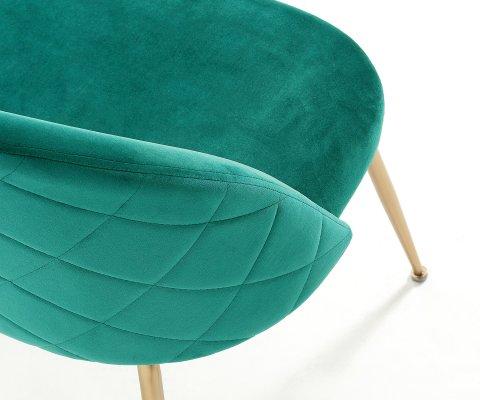 Petit sofa 2 places tapissée velours NYAK