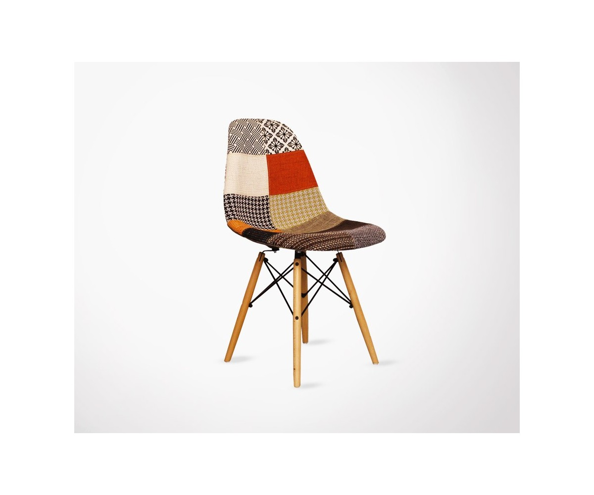 dsw chair patchwork's style design by eames - Chaise Dsw Charles Eames