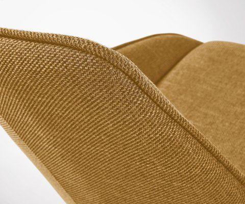 Chaise tapissée design style rétro WISLEY