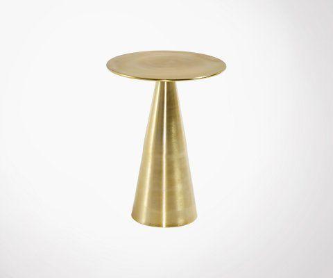 Table d'appoint style art déco en métal doré RICHINE