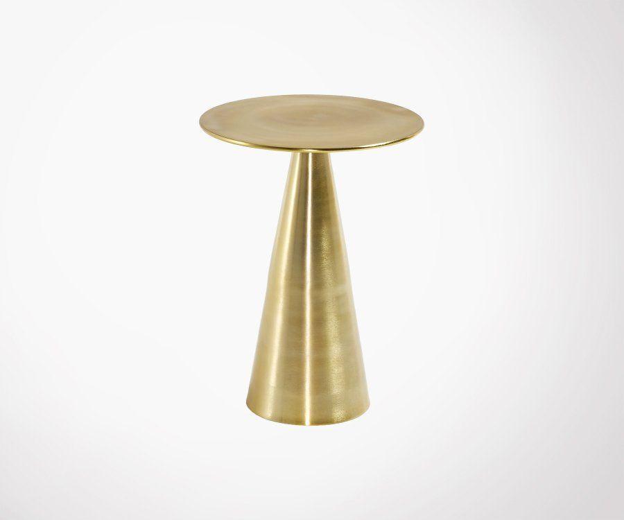 Table d'appoint style art déco en métal doré RICHIE