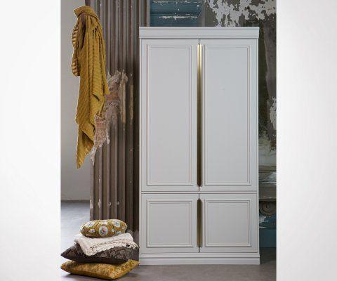 Grande armoire bois massif et laiton CLOUD - BePureHome