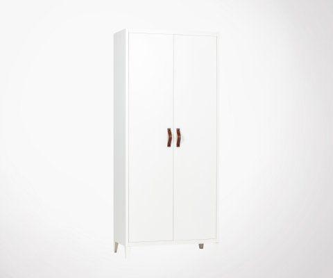 Armoire métallique design classique 2 portes BRACK - Woood