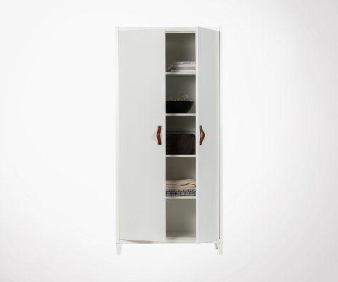 Armoire métal blanc design 2 portes BRACK - Woood