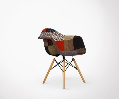 Fauteuil DAW Patchwork style Eames