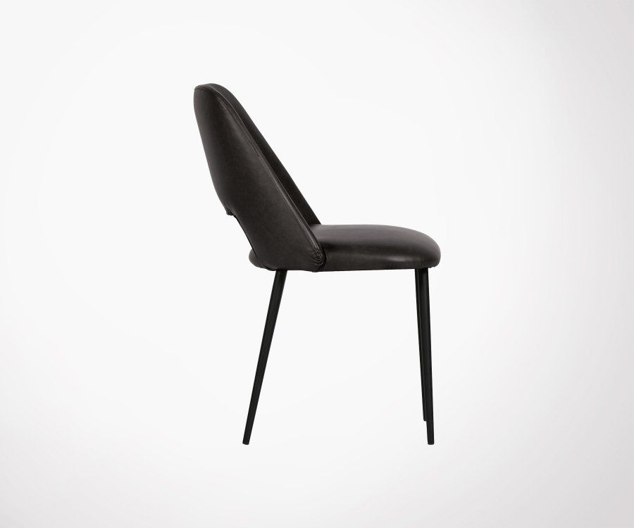 Lot 2 chaises style années 50 simili cuir FIFINE - BePureHome