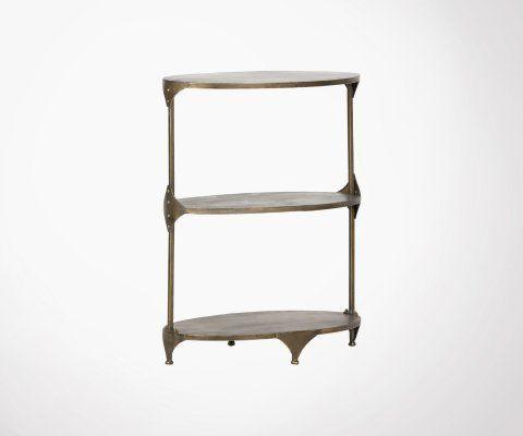 Table d'appoint métal antique cuivré RANK