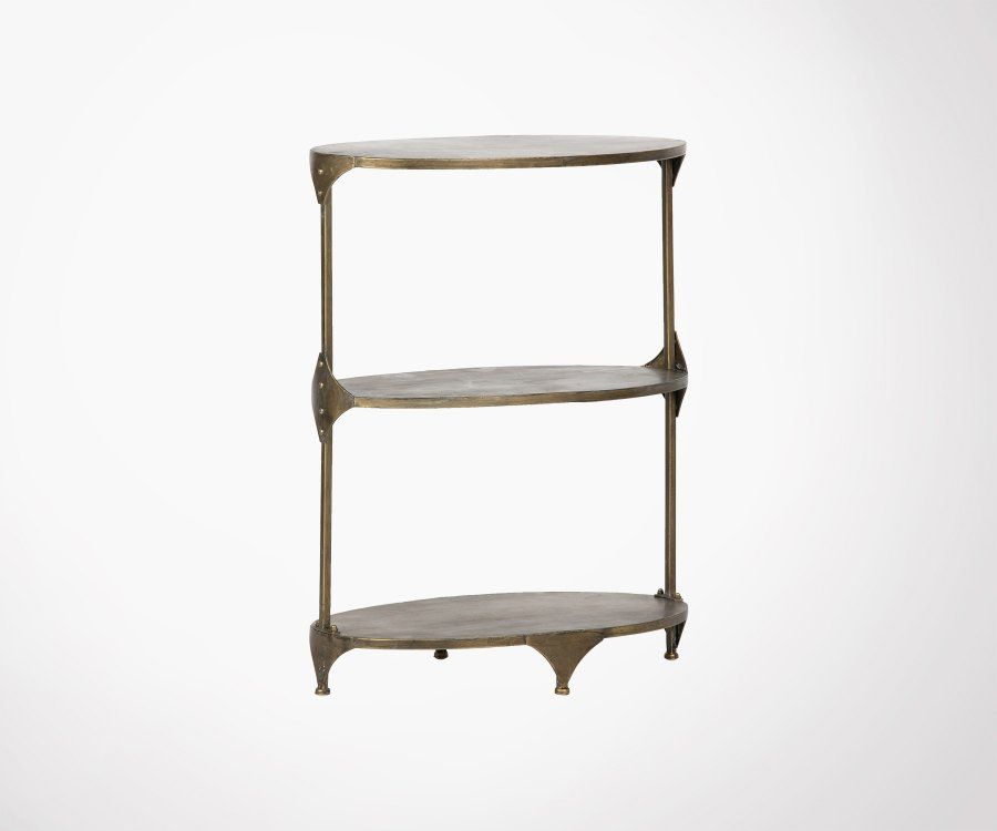 Table d'appoint métal antique cuivré RANK - BePureHome