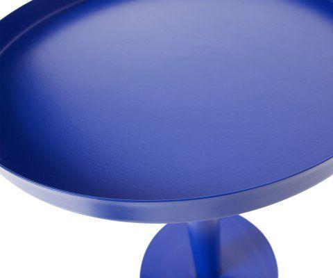 Guéridon bleu métallique 40cm SILKE - Woood