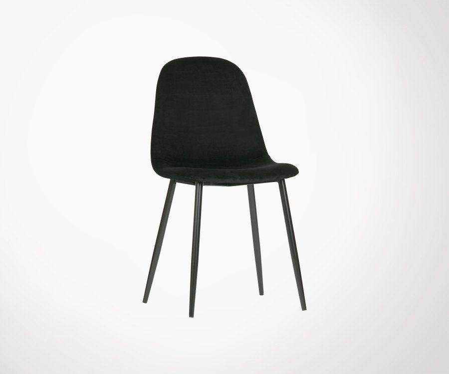 Lot 2 chaises de salle à manger velours MARIJE - Woood