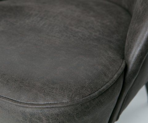 Fauteuil crapaud cuir véritable VOGUE - BePureHome