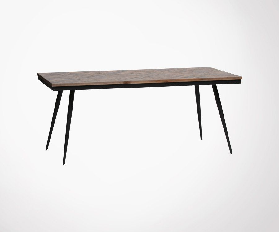 Table bois massif 180x90cm RHOMBO - BePureHome