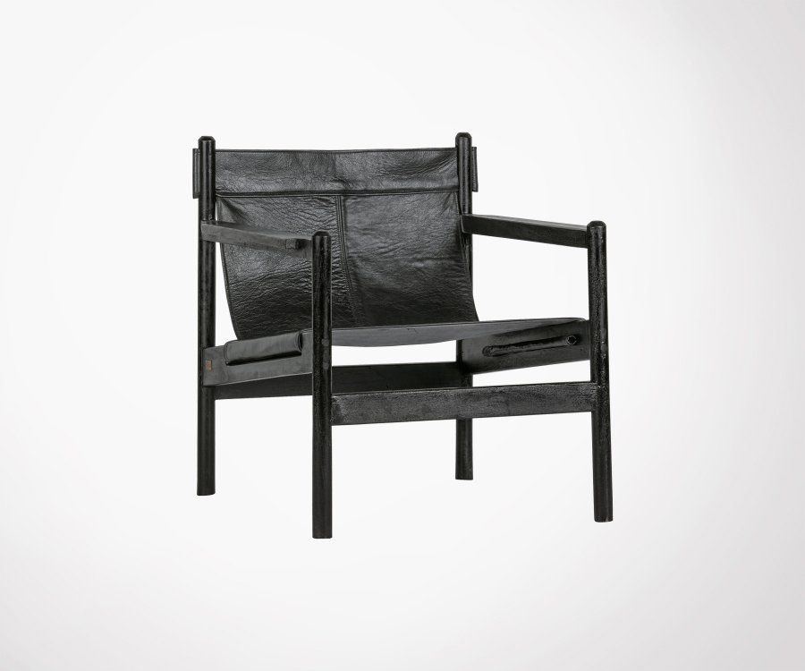Fauteuil cuir rétro SPENCER - BePureHome